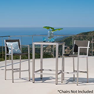 Christopher Knight Home 300357 Cape Outdoor Bar Set, Grey