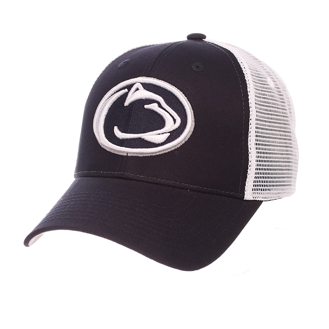 ZHATS Penn State University PSU Nittany Lions Blue Trucker Top Big Rig Mesh Adult Mens/Boys Adjustable Snapback Hat/Cap