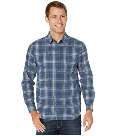Royal Robbins Trouvaille Plaid Long Sleeve (Deep Blue) Men