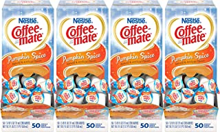 NESTLE COFFEE-MATE Coffee Creamer, Pumpkin Spice, liquid creamer singles, 50 Count (Pack of 4)