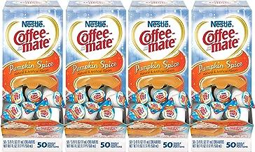 NESTLE COFFEE-MATE Coffee Creamer, Pumpkin Spice, liquid creamer singles, 50 Count (Pack of 4)
