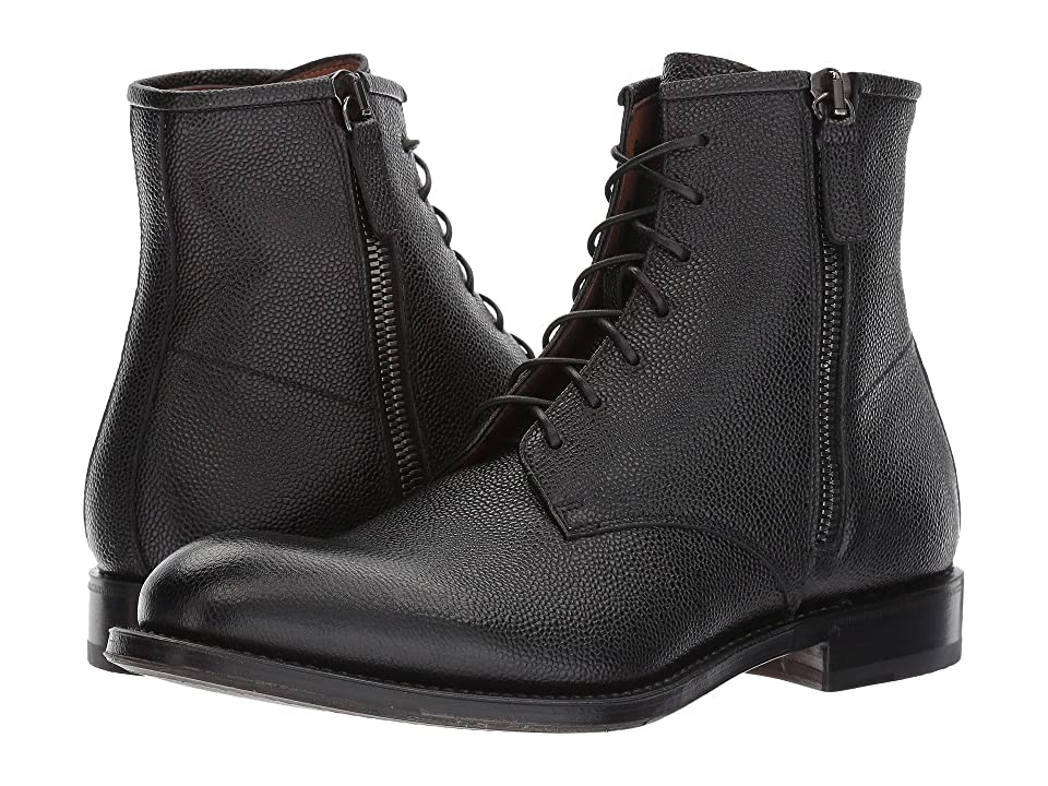 Aquatalia Victor (Black Pebbled Grain) Men