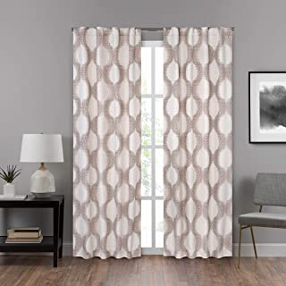 ECLIPSE DraftStopper Room Darkening Curtains for Bedroom - Summit Geo 40