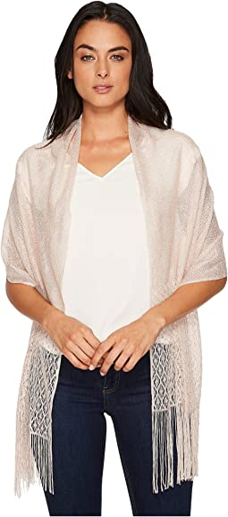 Metallic Crochet Wrap w/ Fringe