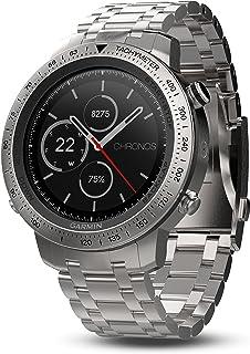 Garmin 佳明 Fenix 计时器 钛合金拉丝钛混合表带010-01957-02 不锈钢表带 1.2 钢铁灰