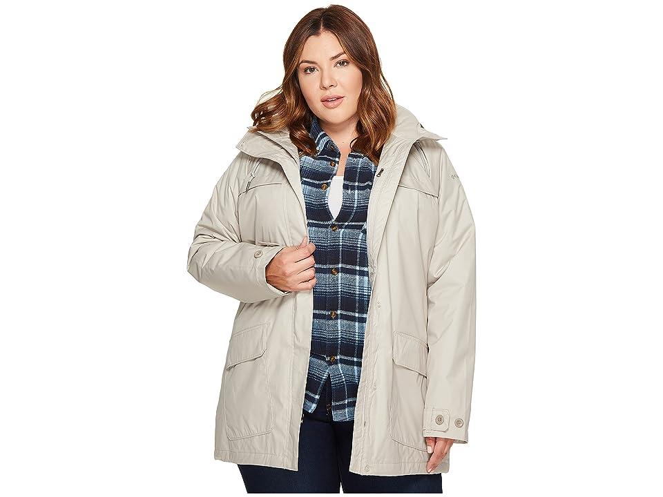Columbia Plus Size Lookout Crest Jacket (Light Cloud) Women