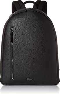 Lacoste Mens Leather Flat Backpack