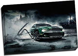 """Ford Mustang Monster muscular de coche Póster de Impresión de Lienzo Art 30""""X 20pulgadas"""