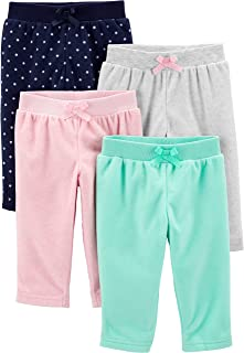 Girls' 4-Pack Fleece Pants