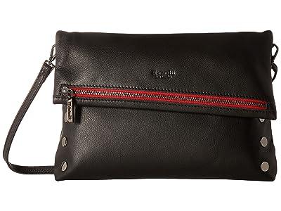 Hammitt VIP Large (Black/Gunmetal/Red Zipe) Handbags