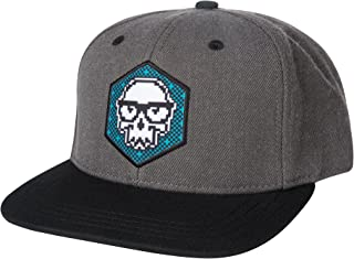JINX Brand Distortion Skully Snapback Baseball Hat, One Size - for Video Gamers and Gaming Fans