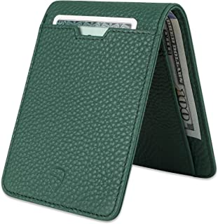 MANHATTAN Slim Bifold Wallet with RFID Protection for Cards and Cash (Matt Green)