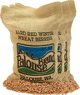 Non-GMO Project Verified Hard Red Winter Wheat Berries | 100% Non-Irradiated | USA Grown | Field Traced (We tell you which field we grew it in) (3 - 5 LBS in Re-useable Burlap Bag)