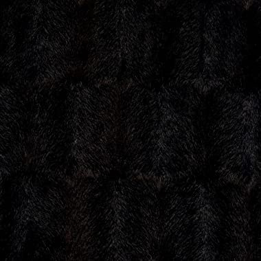 Shannon Luxe Faux Fur Embossed Mink Brown Fabric by the Yard