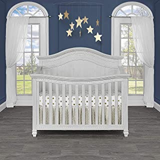 Evolur Madison 5 in 1 Curved Top Convertible Crib, Antique Grey Mist