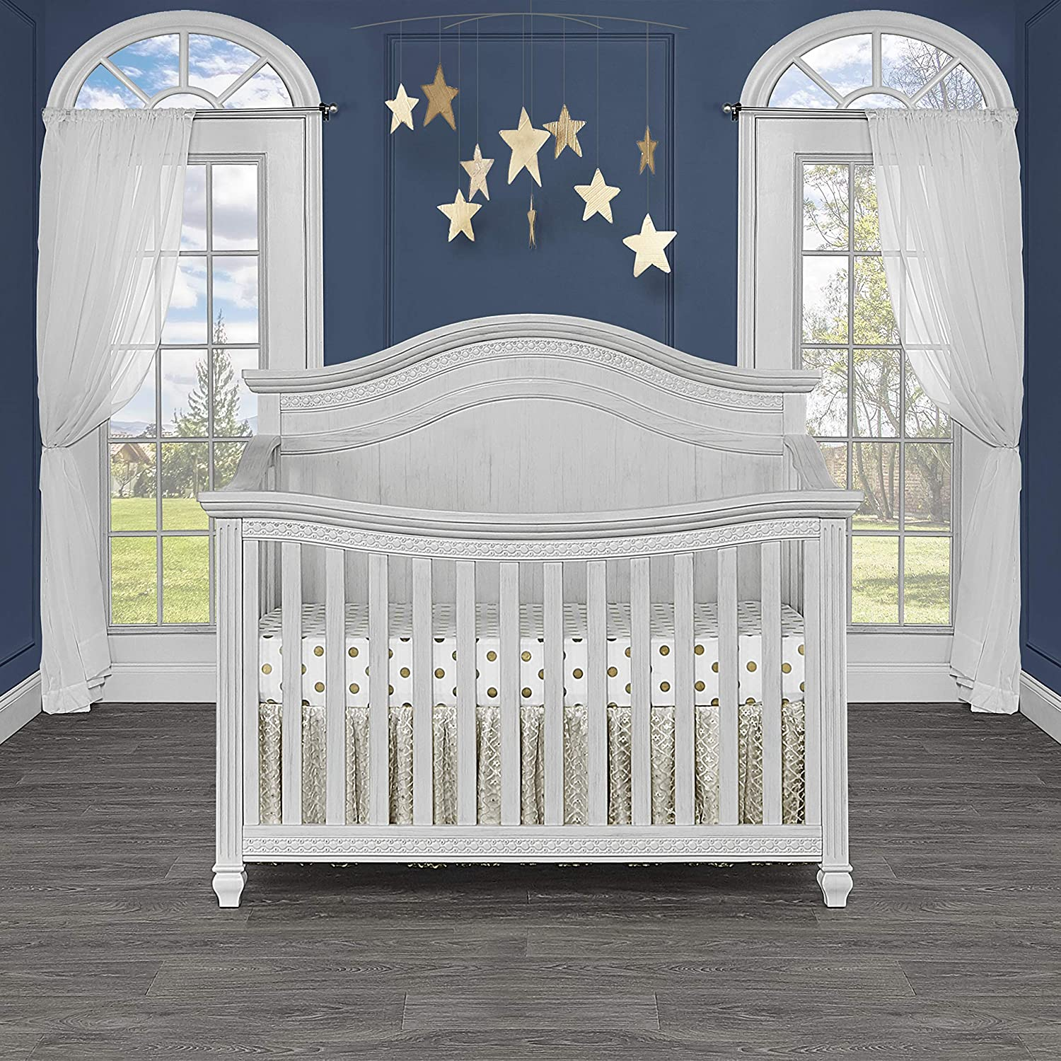 Evolur Madison 5 in 1 Curved Top Antique Crib Ranking Challenge the lowest price TOP4 Grey Convertible