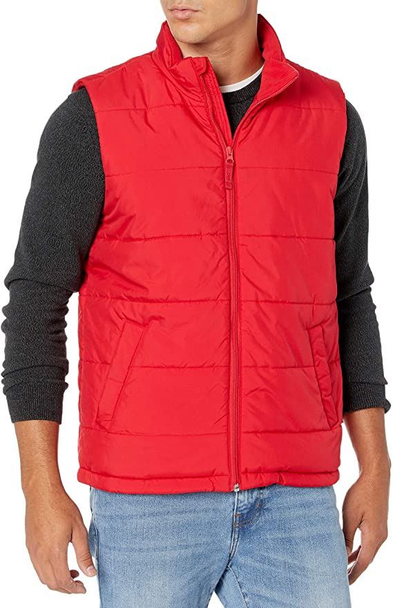 90s Outfits for Guys | Trendy, Party, Cool, Casaul Amazon Essentials Mens Mid-Weight Puffer Vest  AT vintagedancer.com