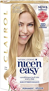 Clairol Nice'N Easy Crème 10PB Extra Light Pale Blonde (Pack of 3) (Packaging May Vary)