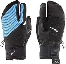 Zanier Unisex – volwassenen 21078-2028-8,5 handschoenen, zwart, lichtblauw, 8.5