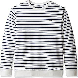 Men's Crewneck Stripe Fleece Sweater, SH1969-51
