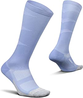 Feetures Graduated Compression Light Cushion Knee High- Compression Socks for Men & Women, Running & Athletic Recovery