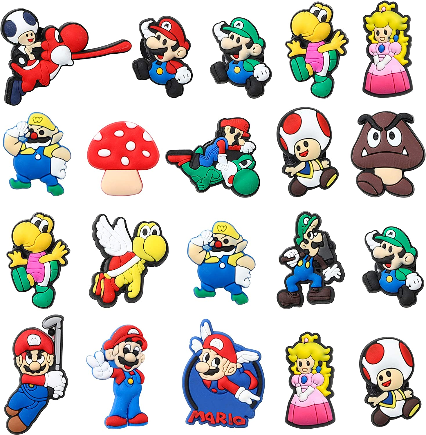 Max 88% OFF CY2SIDE 2021 model 20PCS Mario Shoe Charm Decoration Kids f for