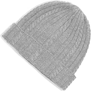 Fishers Finery Women's 100% Pure Cashmere Cable Knit Hat; Super Soft; Cuffed