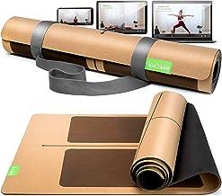 BACKLAxx® Kurk yogamat met natuurlijk rubber - duurzame yogamat antislip vrij van schadelijke stoffen met anti-slip zones...