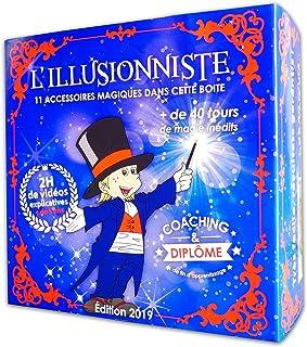 MAGIC SECRET - Coffret Magie Enfant (5 Ans et +) - L'illusionniste - Apprendre +45 Tours de Magie Professionnels - 88 Vidé...