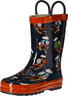 Nickelodeon Kids' Waterproof Thomas and Friends Character Rain Boots with Easy on Handles