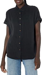 Marca Amazon - Daily Ritual: camiseta suelta de tencel con manga corta para mujer.