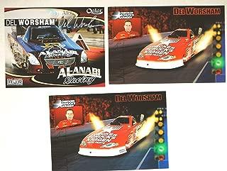 NHRA - Del Worsham / 4 Promo Cards - AL-ANABI Racing / Checker Schuck's Kragan / Nitro Funny Car - Mac Tools - Qatar - Mint - Rare - Collectible