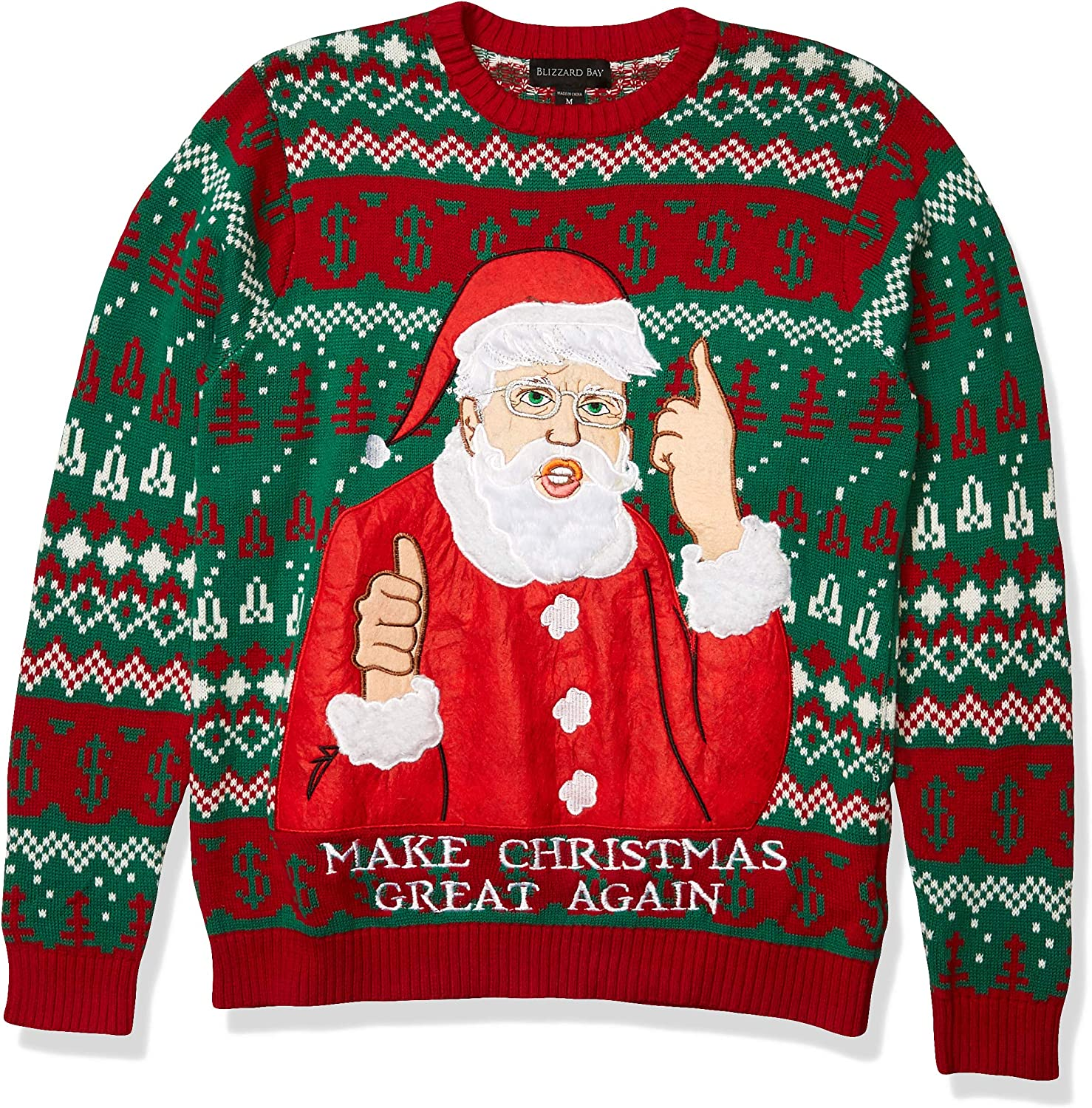 Blizzard Bay Mens Ugly Christmas Sweater Trump