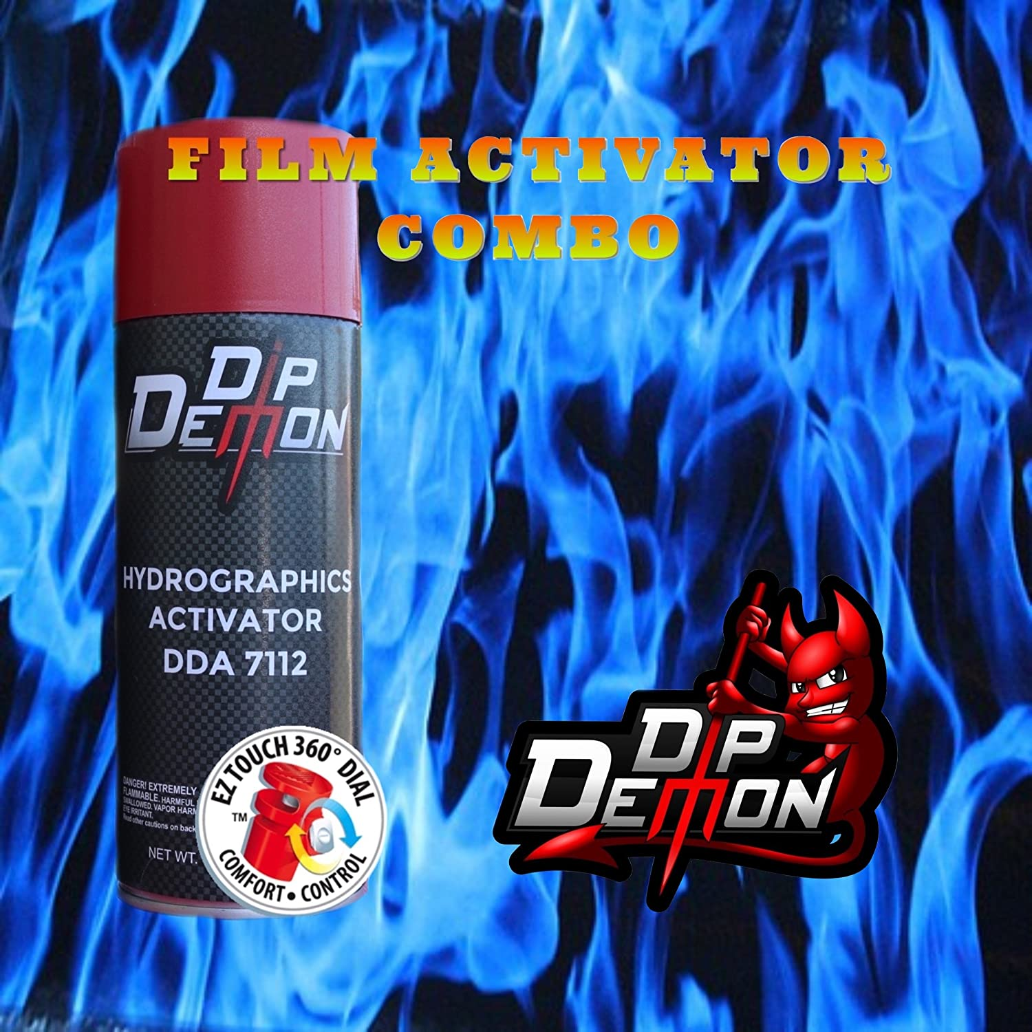Combo Kit Blue Challenge the lowest price Flames Hydrographic Transfer Water Activator Film Courier shipping free shipping
