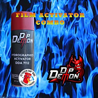 Combo Kit Blue Flames Hydrographic Water Transfer Film Activator Combo Kit Hydro Dipping Dip Demon