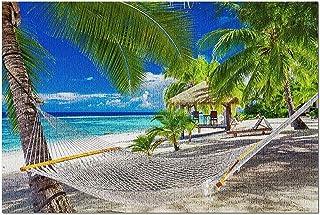 TLMYDD Hammock Tropical Beach Of Rarotonga Cooköarna, Södra Stilla Havet Fotografi - 1000 Styck Jigsaw Pussel För Vuxna Ba...