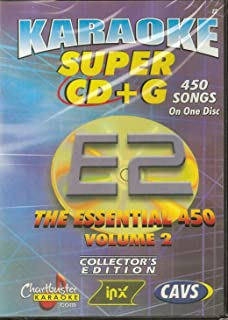 CHARTBUSTER SUPER CD+G Volume #2 - 450 Karaoke Songs Playable on CAVS System or on your PC DVD player using Windows.