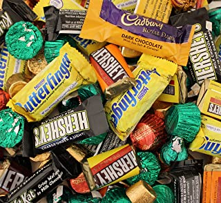 LaetaFood Pack, Halloween Chocolate Candy Assortment - Cadbury Royal Dark, Nestle Butterfinger, Kit Kat, Reese's, Kisses Caramel, Rolo and More (3 Pounds Bag)