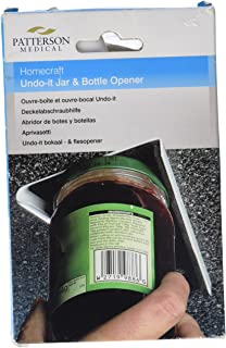 Homecraft Undo-It Jar and Bottle Opener, Kitchen Aid for One-Handed Use or for Individuals with Limited and Weakened Grip ...
