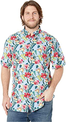 Big & Tall Printed Oxford Short Sleeve Classic Fit Sport Shirt