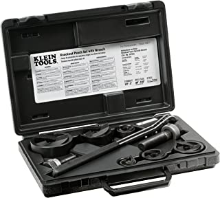 Klein Tools Knockout Punch Set with Ratcheting Wrench 53732SEN (5 Units)