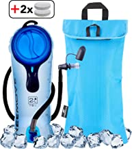 FREEMOVE 2L or 3L Hydration Bladder & Cooler Bag Keeps Drink Cool & Protects Bladder or Replacement Bite Valve | Leak Proof Water Reservoir | Tasteless TPU | Quick Release Tube | Shutoff Valve