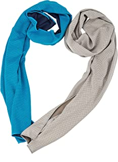 "Cooling Towel, Cool Towel for Instant Cooling Relief, Chilling Neck Wrap, Ice Cold Scarf For Men & Women, 40x12"", Microfiber Bandana, Evaporative Chilly Towel For Yoga Golf Travel (blue+grey)"