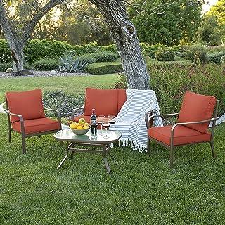 Amazon Com Red Patio Furniture Sets Patio Furniture