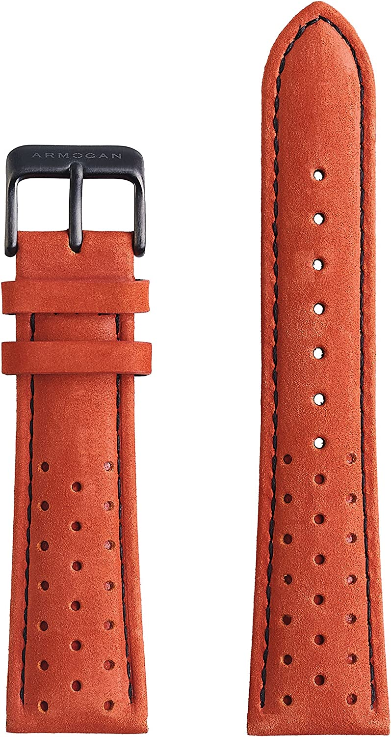 Armogan Genuine Suede Rally Perforated Inventory cleanup selling sale - Watch SR3 Strap Leather NEW before selling ☆