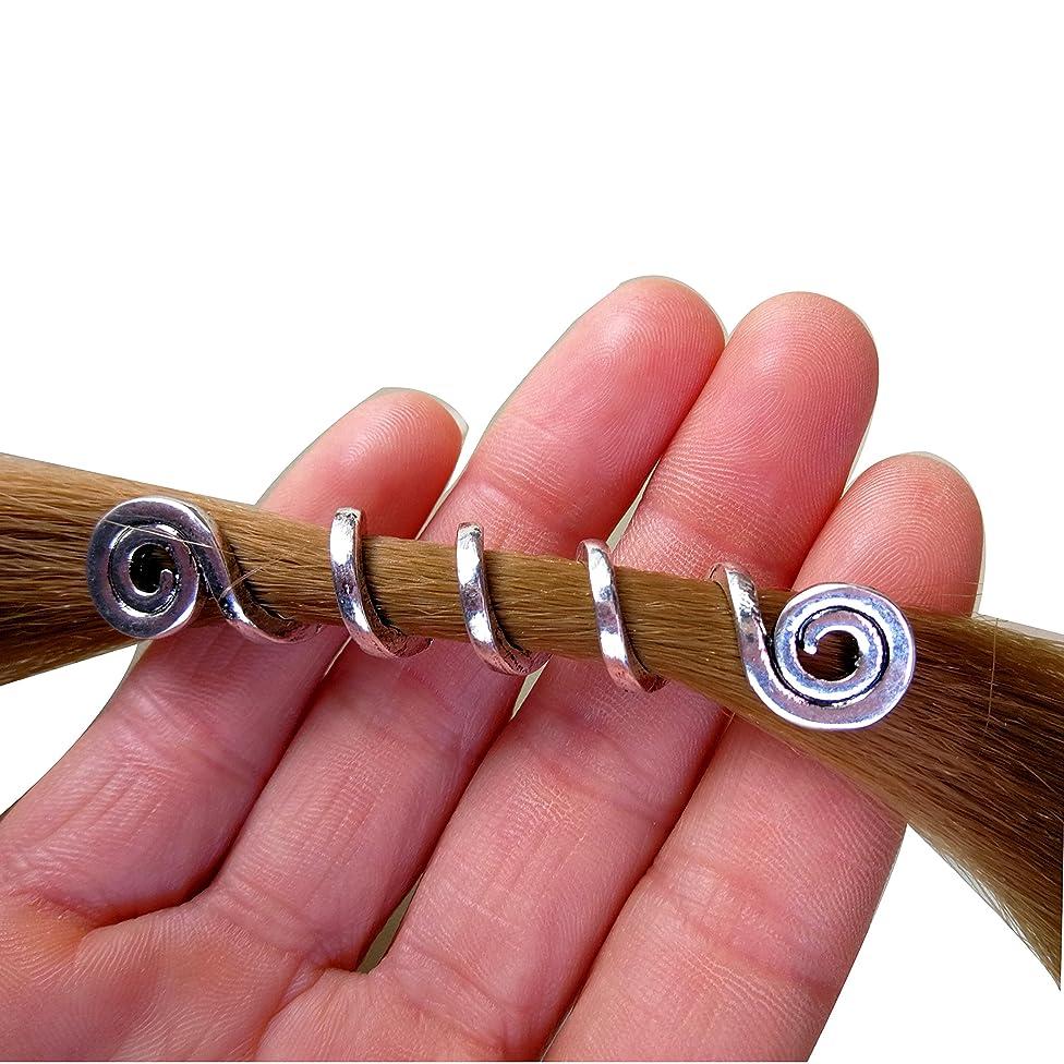 Viking Hair Beads Spiral Hair Coils Beard Jewelry Dwarven Beard Coils Beard Hair Accessory Dreadlock Hair Accessories 2pcs/Set