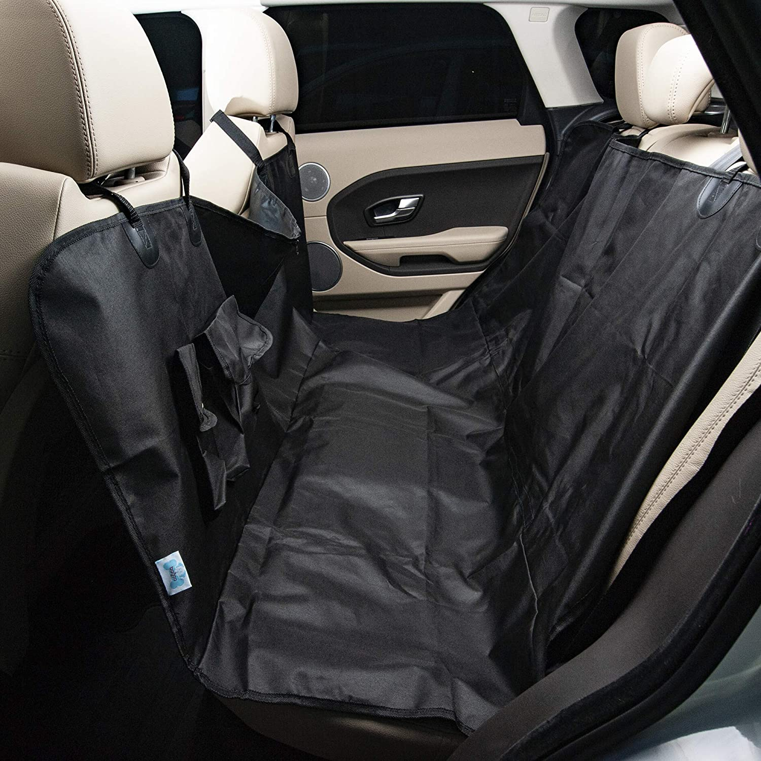 Bagoo Pets Seat Cover for Cars, SUVs and Trucks  Waterproof and Hammock Congreenible  Includes Accessory Pouch  for Small, Medium, and Large Pets, Dogs and Cats.