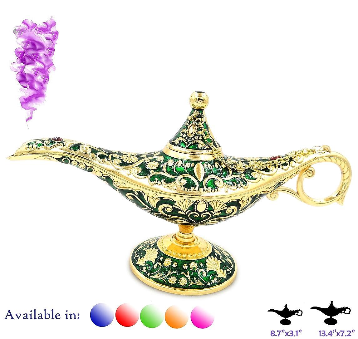 わざわざ交じる寺院凡例Aladdin Magic Genieライトランプポットクラシックカラー真鍮Aladdin Genie Lamps Incense Burners Normal 8.7x3.1
