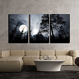 wall26 - Full Moon in The Forest - Canvas Art Wall Decor - 16