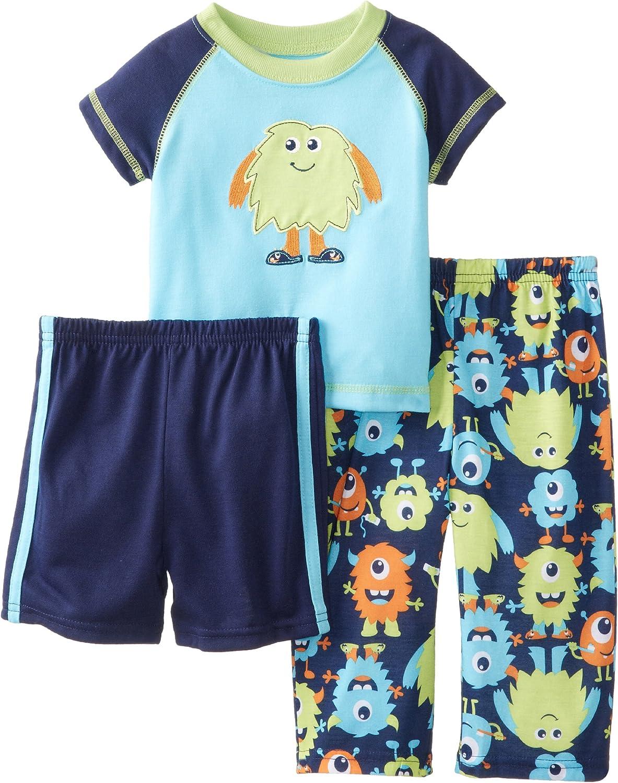 Little Me Baby Boys' Sleepy Monsters 3 Piece Pajama